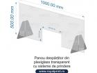 panou despartitor plexiglas manichiura 100x50