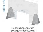panou despartitor plexiglas manichiura 70-x-50